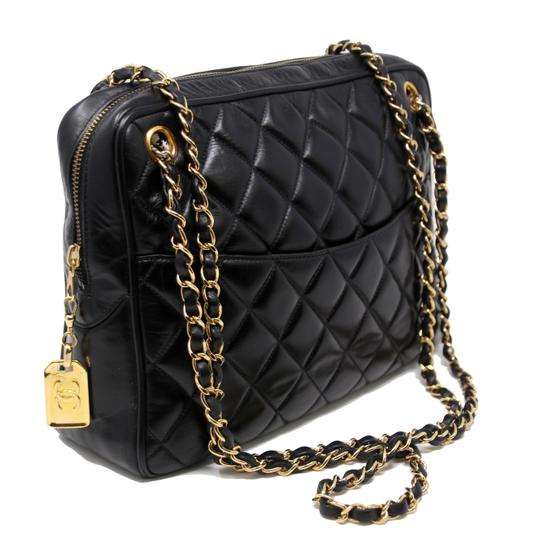 2cd404b8ae40 Chanel Shopping Tote Classic Quilted Cc Black Lambskin Leather Tote ...