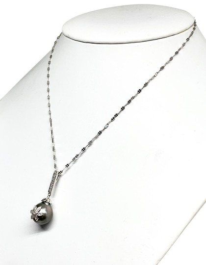 Estate Certified 895 Ladys Tahitian Pearl & Diamond 12.60Mm 16
