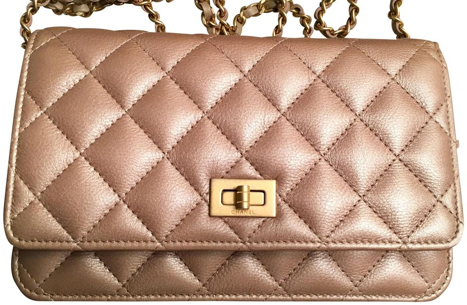 87ab38527a94 Chanel 2.55 Reissue Woc Metallic Gold/Taupe Calfskin Leather Clutch ...