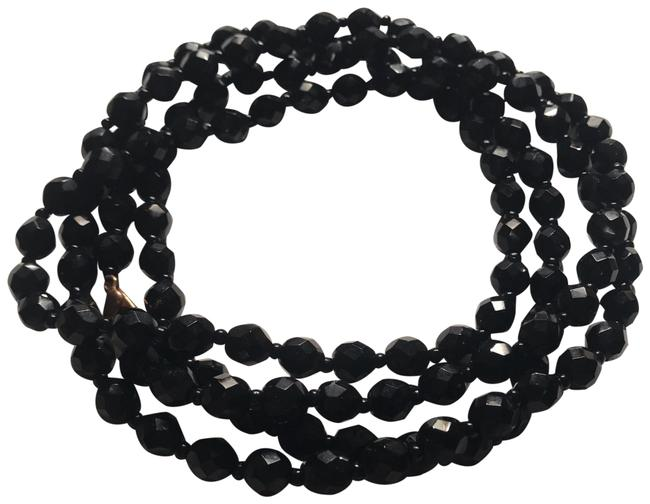 """Item - Black 48"""" Strand Of 8mm Real Onyx Beads Necklace"""