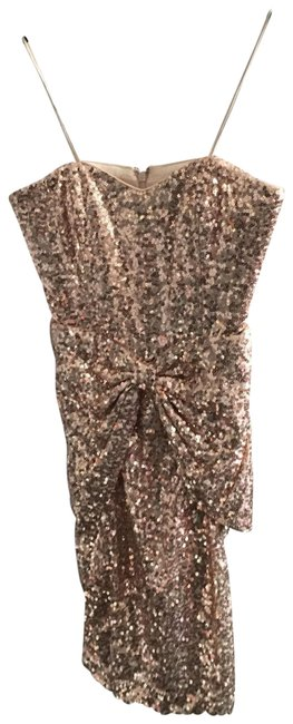 Item - Pink Strapless Bow Short Cocktail Dress Size 4 (S)