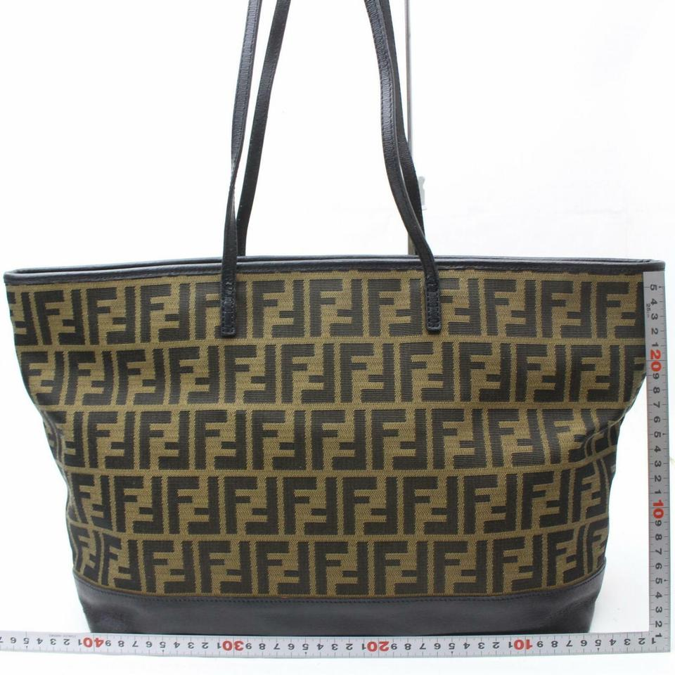 1da424538f0b Fendi Monogram Ff Zucca Roll Forever Shopper 870101 Brown Canvas Tote -  Tradesy