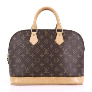 Louis Vuitton Alma Lv Monogram Bags Satchel in Brown