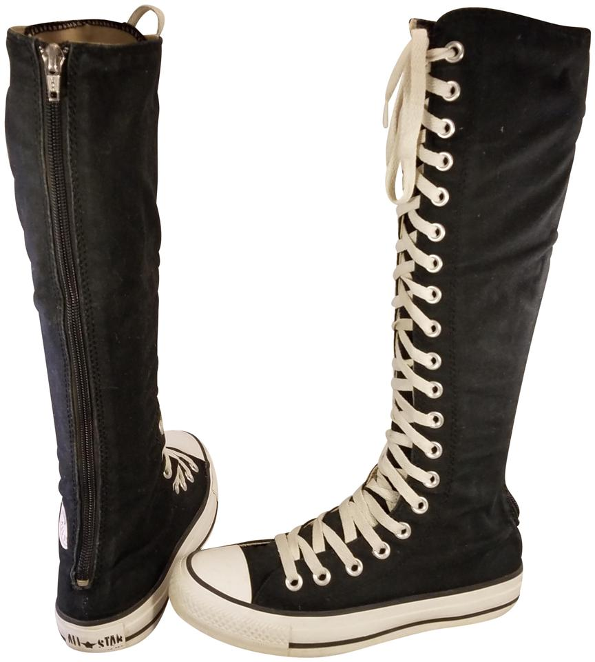 e8b8834dbc41 Converse Black Rare Taylor All Star Knee Hi Woman Laceup Boots ...