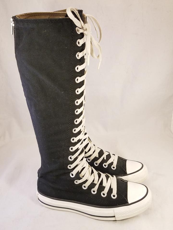 Converse US Hi 6 Star Knee RegularMB Laceup Black Taylor Size Rare Woman BootsBooties All SMUpzGVLq