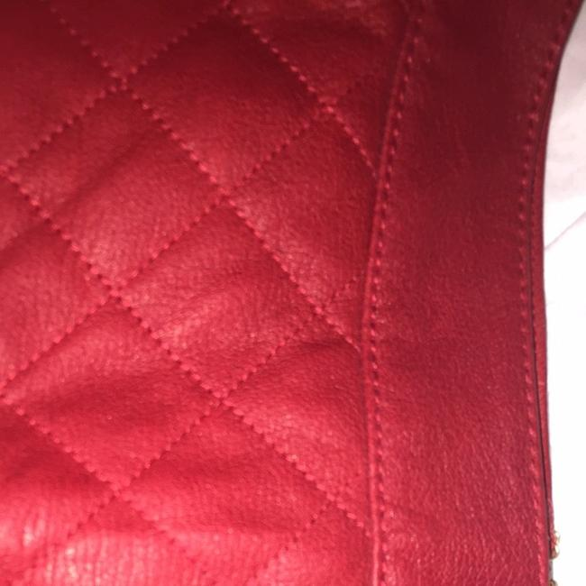 Kate Spade Leather Mini Mini Quilted Leather Skirt red Image 3