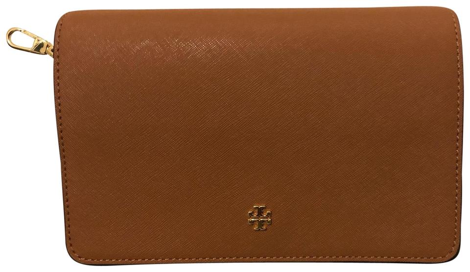7018de2f4b5 Tory Burch Emerson Combo Brown Saffiano Leather Cross Body Bag - Tradesy