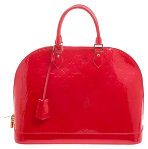 Louis Vuitton Patent Leather Monogram Satchel in Red 08b47f027a