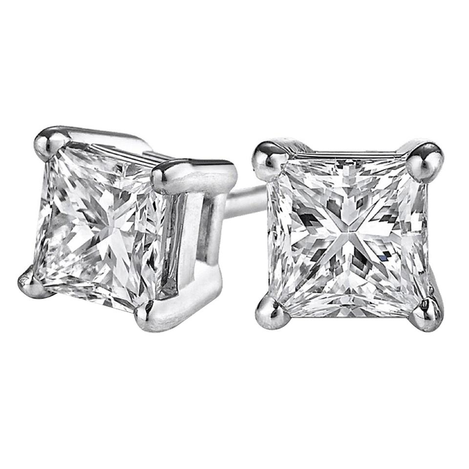 e1b1e893a Marco B Diamond Stud Earrings in 14K White Gold with Push Back 0.10 Carat  Image 0 ...
