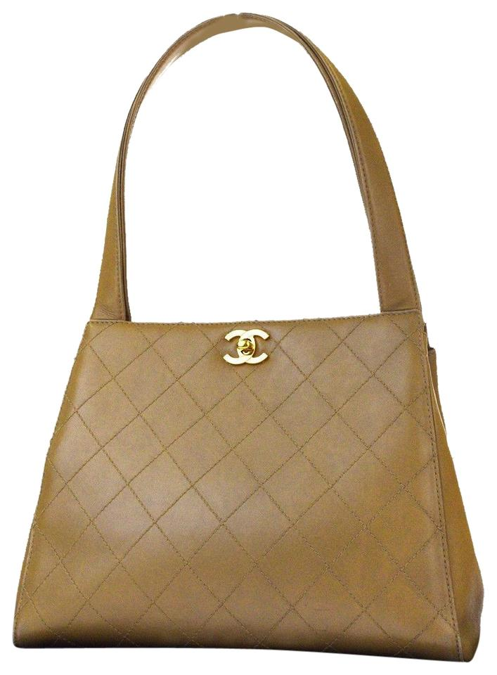 Chanel Cc Logos Quilted Shoulder Tote Leather Italy 88be751 Beige ... 6d434cb9f782e