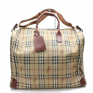 Burberry London Duffle Speedy Keepall Boston Travel Tote in Brown