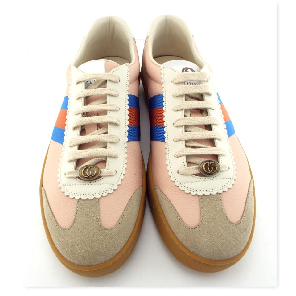 8d13701f3 Gucci Neutral Blush Butter Leather Gg Logo G74 Web Men's Low Top Sneakers  Us12/11uk ...