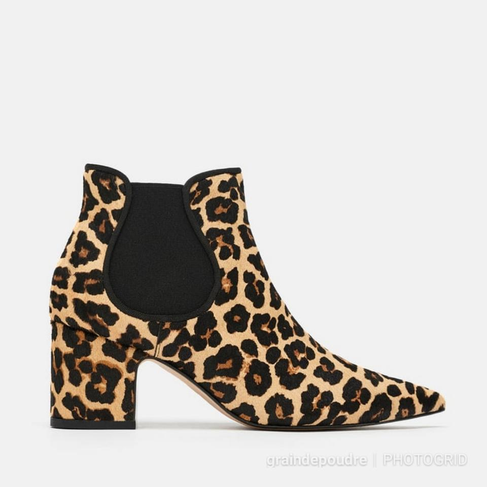39ApproxUS Size Leopard 9RegularMB BootsBooties Ankle Ponyhair Chelsea Leather Zara Print EU yN8wn0Omv