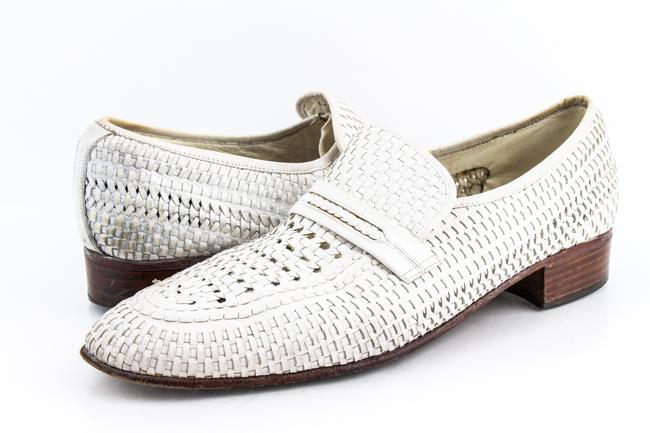 Item - White Dridor Woven Detail Loafer Shoes
