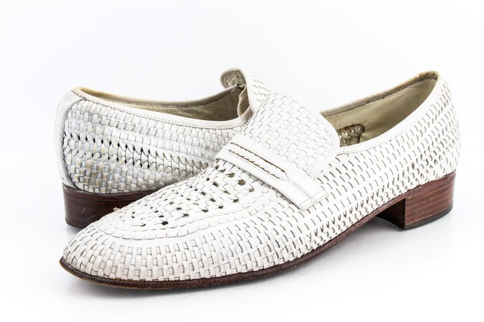 f254ffccc2a47 Bally White Dridor Woven Detail Loafer Shoes 54% off retail