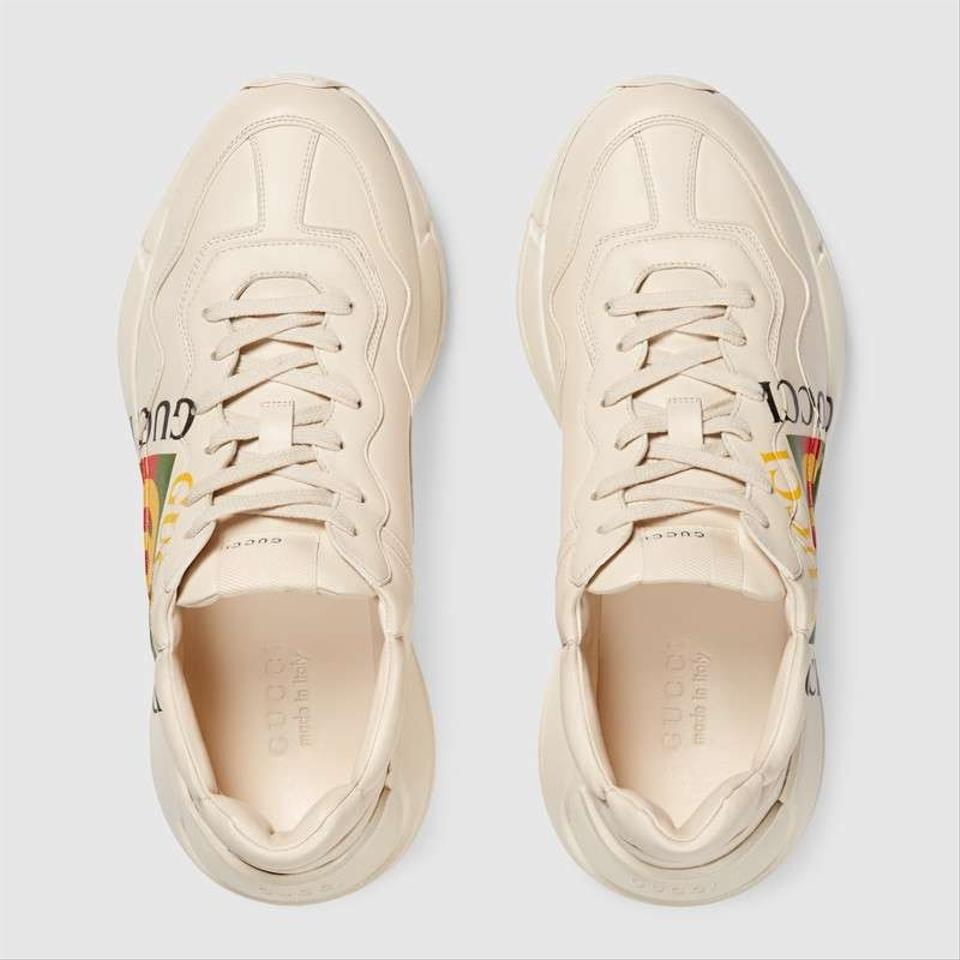 037469aa33376 Gucci Men s Rhyton Print Leather Trainer Sneakers Size EU 43 (Approx ...