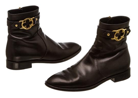 59393372cde Louis Vuitton Black Leather Ankle 488562 Boots/Booties Size EU 36.5  (Approx. US 6.5) Regular (M, B)