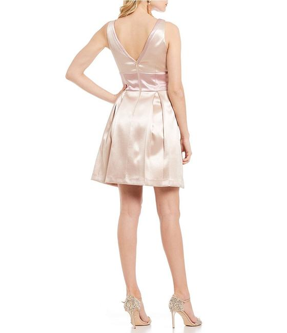 Badgley Mischka Champagne Rose Gold Low Cut Fit And Flare