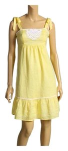 Lilly Pulitzer short dress Yellow Starfruit Cormick Sundress Holiday Daydress on Tradesy