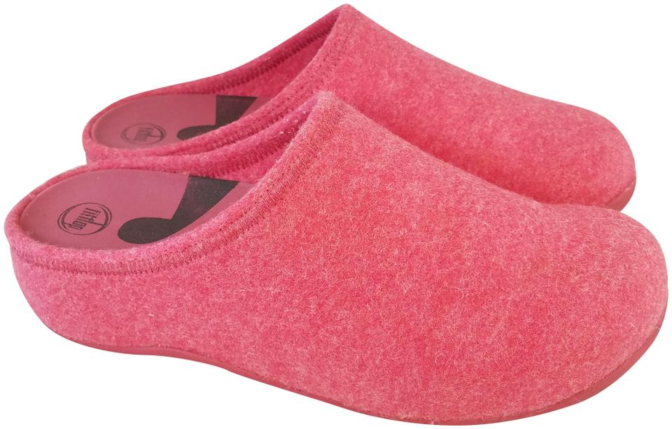 c995b2bfd FitFlop Pink Wobbleboard Woman Wool Eur 43  Mules Slides Size US 11 ...
