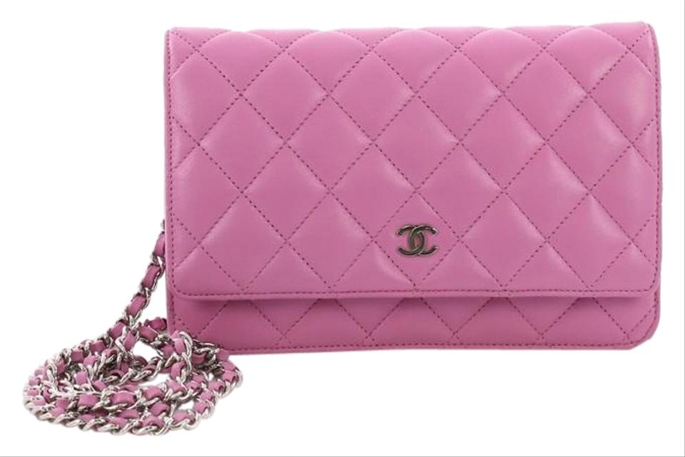Chanel Wallet on Chain Quilted Purple Lambskin Shoulder Bag - Tradesy 972d33ed3bf98