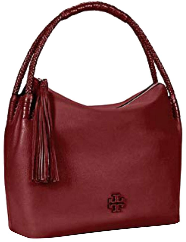 47d69d4c88d0 Tory Burch New Tassel Braided Shoulder Burgundy Leather Tote - Tradesy