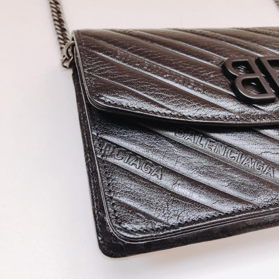 a21f7c3d922 Balenciaga Wallet on Chain Bb Embossed Leather Cross Body Bag - Tradesy