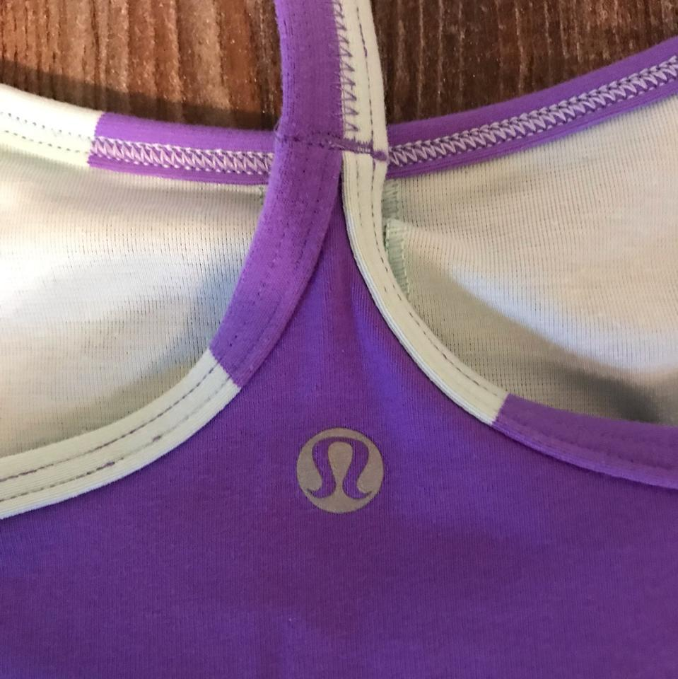 13c355c4af0187 Lululemon Purple and Mint Power Y Activewear Top Size 6 (S) - Tradesy