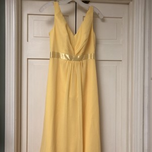 David's Bridal Yellow F15530 Formal Bridesmaid/Mob Dress Size 0 (XS)