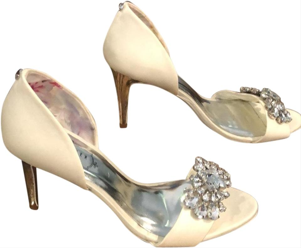 92be76589 Ted Baker White Rhinestone Heels Pumps Size EU 37 (Approx. US 7 ...