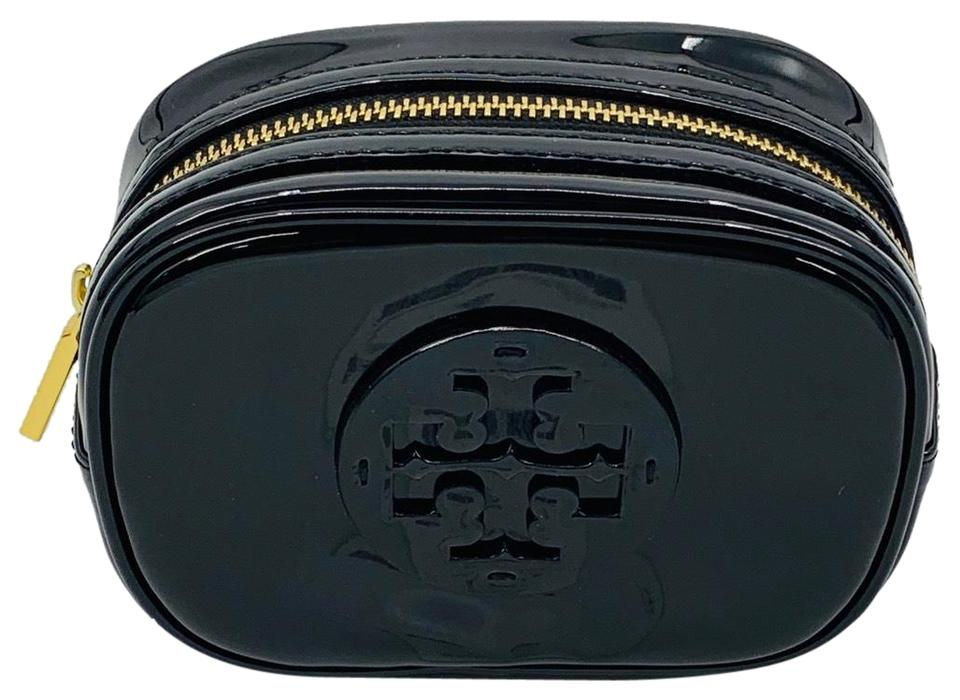 497a8dd197ff Tory Burch Tory Burch NWT Black Stacked Small Cosmetics Case Image 0 ...