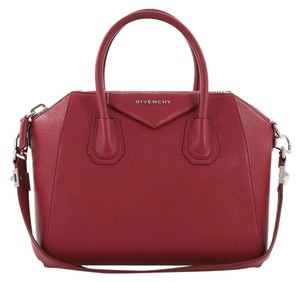 Givenchy Antigona Leather Satchel in Red