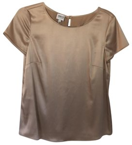 Armani Collezioni Satin Shell Top Cream