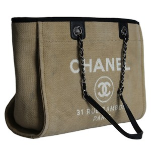 68e683a329e8 Chanel Canvas Classic Vintage Tote in Brown