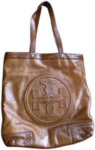 1b7b800b7ef Tory Burch Leather Patent Leather Tote in Tan Caramel - item med img