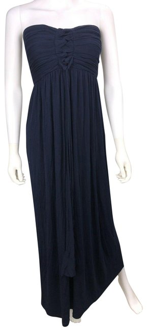 Item - Navy Blue Maxi Long Formal Dress Size 8 (M)