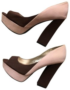 Qupid Pink And Brown Pumps