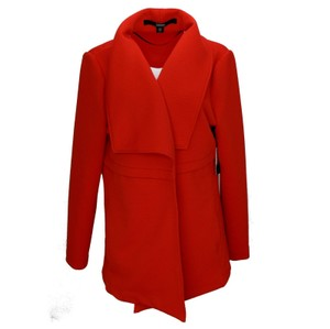 Kensie Woman Jersey Quilted Red Jacket
