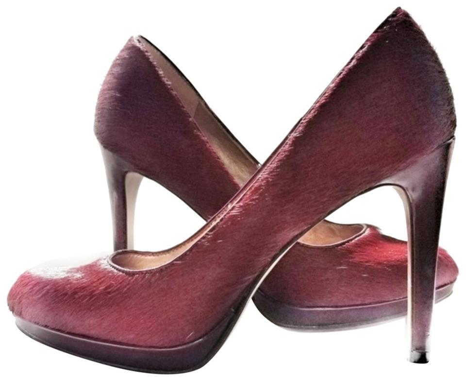 4ae8ca84ee8 BCBGeneration Red Sexy Bcbg Burgundy Pony   Calf Hair Heels Pumps ...
