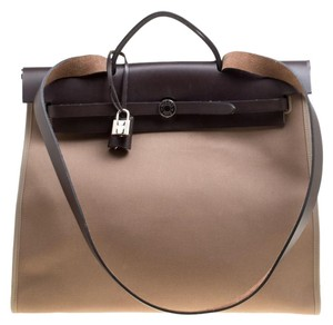 1dc80bf99c3c Hermès Leather Canvas Shoulder Bag. Hermès Herbag Taupe Canvas and Zip ...