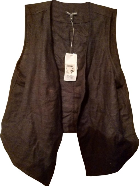 Preload https://img-static.tradesy.com/item/24862846/eileen-fisher-black-silk-with-snaps-and-ties-vest-size-10-m-0-1-650-650.jpg