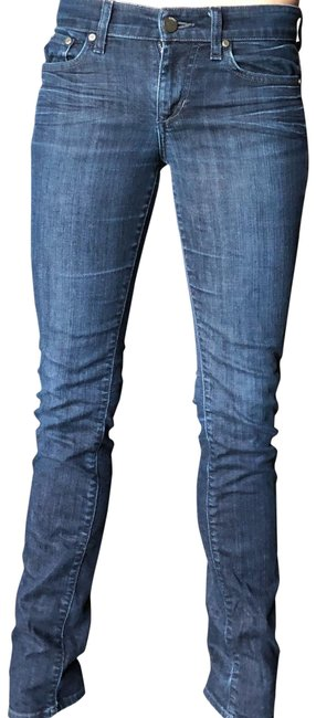 Item - Dark Rinse Low Straight Leg Jeans Size 2 (XS, 26)