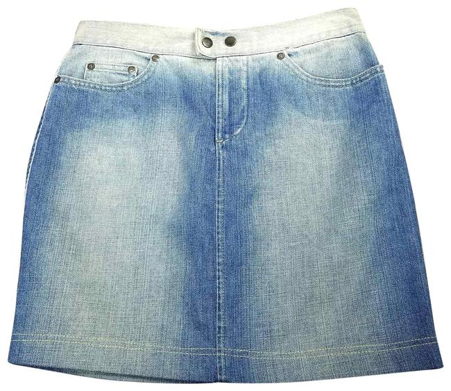 Gianfranco Ferre Made In Italy Denim Pencil Mini Jean Mini Skirt Blue Image 0