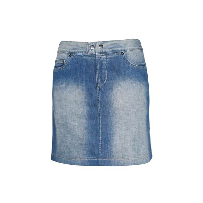 Gianfranco Ferre Made In Italy Denim Pencil Mini Jean Mini Skirt Blue Image 1