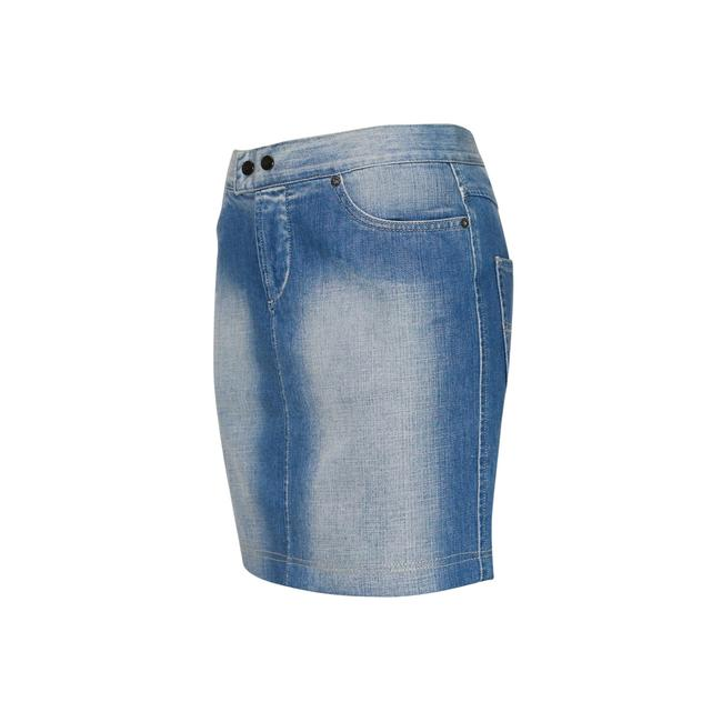 Gianfranco Ferre Made In Italy Denim Pencil Mini Jean Mini Skirt Blue Image 2