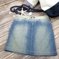 Gianfranco Ferre Made In Italy Denim Pencil Mini Jean Mini Skirt Blue Image 6
