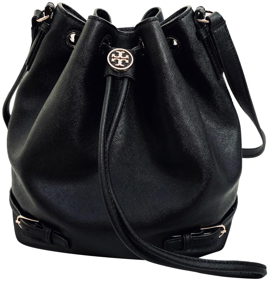 fe732ecb70d Tory Burch Saffiano Leather Bucket Crossbody Condition Shoulder Bag Image 0  ...