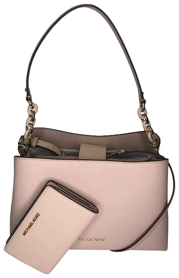 901aa1a76c07 Michael Kors Purse Set Pink Leather Travel Sofia Satchel in Ballet Image 0  ...