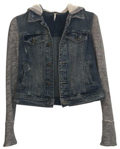 b11d07f82a Free People Denim with grey sleeves Womens Jean Jacket