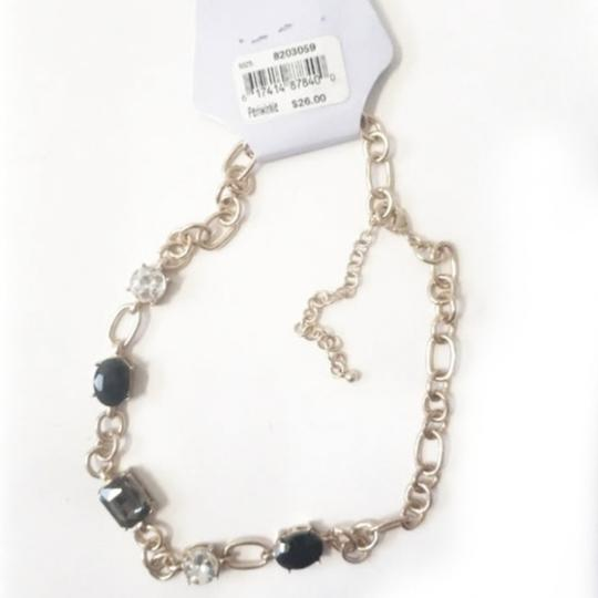 Periwinkle by barlow NWT Gold Periwinkle Crystal Necklace / Choker Image 1